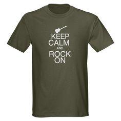 Keep Calm and Rock On Dark T-Shirt Just Run a987ff42dd542