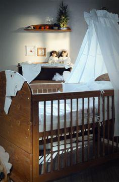 Baby crib is ready to use. / A babaágy használatra kész! Solid Pine, Baby Cribs, Nursery, Bed, Handmade, Furniture, Home Decor, Hand Made, Decoration Home