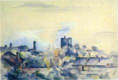 Roofs in L'Estaque - Paul Cézanne