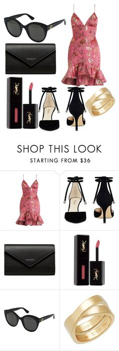 """""""Pink."""" by saraasecci on Polyvore featuring Zimmermann, Nine West, Balenciaga, Yves Saint Laurent, Gucci and Cartier"""