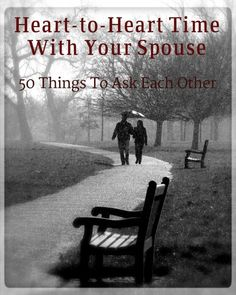 Heart to heart time with your spouse image