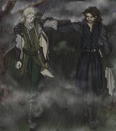 But in the dawn of years Elves and Men were allies and held themselves akin, and there were some among Men that learned the wisdom of the Eldar, and became great and valiant among the captains of the Noldor. ~ The Silmarillion, Chapter 12 (Mellon-nin in color by shiryuu on deviantART)