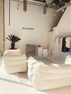 Zulu & Zephyr + retail design + brand identity + architecture and design + interiors + style | Julie de la Playa Clothing Store Interior, Clothing Store Design, Boutique Store Design, Clothing Store Displays, Retail Interior Design, Retail Store Design, Small Store Design, Boutique Interior Design, Retail Stores