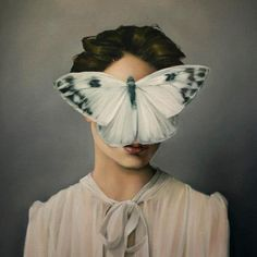 Amy Judd (British, b. 1980, England) - Silent Butterfly Paintings: Oil on Canvas