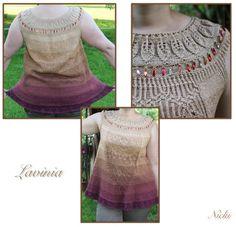 Lavinia I Nicki's Kreativseite Nach einer Anleitung von Fadenstille Knitting, Tutorials, Breien, Nice Asses, Tricot, Stricken, Weaving, Knits, Crocheting