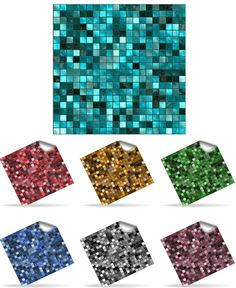 30 Self Adhesive Mosaic Wall Tile Decal Transfers for 6 x 6 inch Tiles -  Simply