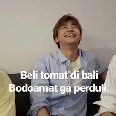 Memes Funny Faces, Funny Kpop Memes, Exo Memes, Cute Memes, Quotes Lucu, Jokes Quotes, K Meme, Drama Memes, Korea
