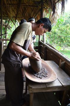 making chocolate with the bribri - costa rica