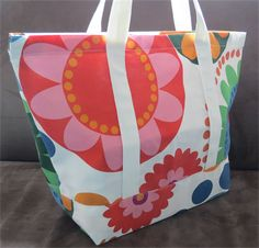 Colorful Tote with pouch