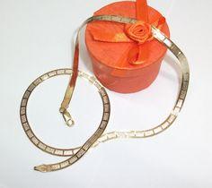 Vintage Halsschmuck - Goldcollier in 925er Silber/vergoldet 23/24k SK523 - ein…