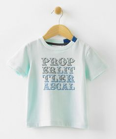 Take a look at this Blue Paul 'Proper Little Rascal' Tee - Infant, Toddler & Boys by Fluke on #zulily today!