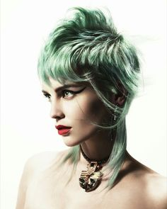 Collection by Andy Heasman - London BHA Finalist 2016 Mullet Haircut, Mullet Hairstyle, Braided Hairstyles, Cool Hairstyles, Alternative Hair, Fantasy Hair, Creative Hairstyles, Pastel Hair, Hair Colors