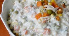 Tavuklu Makarna Salatası Malzemeler; 1 adet tavuk göğsü haşlanmış, didiklenmiş 2 su bardağı garnitür 1 çay bardağı haşlanmı... Cheeseburger Chowder, Food, Essen, Meals, Yemek, Eten