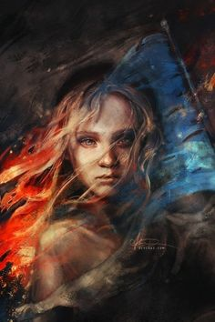 "People with courage and character always seem sinister to the rest.""  ― Hermann Hesse. She reminds me of the little match girl,or a little girl from the french revalution."