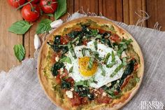 Garlicky Greens and Fried Egg Breakfast Pizza (Gluten-Free) ⋆ This Mess is Ours Breakfast Pizza, Sausage Breakfast, Paleo Breakfast, Breakfast Recipes, Breakfast Ideas, All You Need Is, Pizza Sans Gluten, Egg Pizza, Pita Pizzas