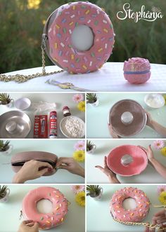donut, bag, bolsa, silicone, diy, Paula Stephania