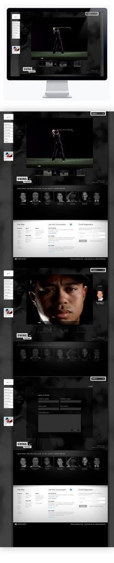 Nike Golf - Swing Portrait on Web Design Served
