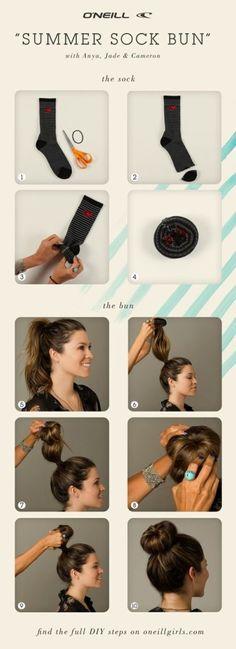 Lightning-fast alternatives to the mom ponytail - Sock bun