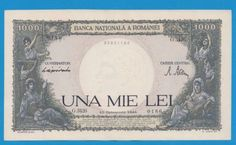 Rare Old Romanian Banknote 1000 lei - 1944 Vintage World Maps, Banknote, Coins, Collection, Rooms