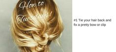 #3 Tie your hair bac