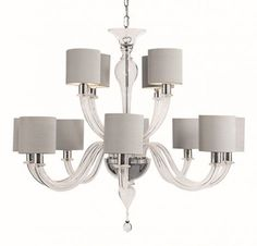 Raphael Chandelier with drum shades