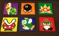Super Mario Bros Enemy Coasters & optional by ThePixelizedPrincess. Inspired by the original Nintendo game.