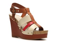 Arturo Chiang Lizette Wedge Sandal would look awesome with the Spring '13 Print Shirtdress AND the Ikat skirt!