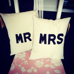 Mr and mrs cushions £12.50 each or the pair for £20. Available MR&MR and MRS&MRS... ORDER NOW Sweet Home, Reusable Tote Bags, Cushions, Pairs, Throw Pillows, House Beautiful, Cushion, Decorative Pillows, Pillows