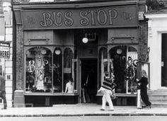 October The Fashionable Bus Stop boutique in Kensington Church Street, London. Vintage London, Old London, Vintage Shops, Barbara Hulanicki, London Blog, London Style, Swinging London, London History, Sixties Fashion
