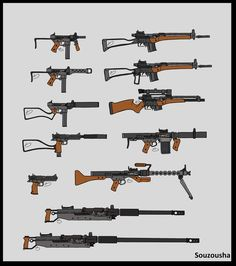 """Several modified SKS based weapons 1327 46 1 - Stock Yugo SKS rifle 2 - Modified Sawed off SKS """"Pistol"""" 3 - SKS Variant JBS-53 altered version of a SKS-D model (able to accept standard AK-47 Magazi..."""