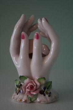 vintage porcelain hands