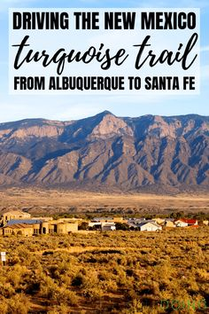 The New Mexico Turquoise Trail is a scenic byway and great roadtrip between Albuquerque and Santa Fe New Mexico Vacation, New Mexico Road Trip, Travel New Mexico, Tennessee Vacation, Mexico Tourism, Solo Vacation, Sante Fe New Mexico, New Mexico Santa Fe, New Mexico Usa