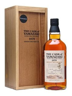 A 1979 vintage Japanese single malt whisky from Suntory's Yamazaki distillery. Launched in travel retail in this has been bottled at full strength at 29 years old after full-term maturation . Cigars And Whiskey, Scotch Whiskey, Bourbon Whiskey, Whiskey Bottle, Japanese Whisky, Spiritus, Single Malt Whisky, Bottle Box, Wine Packaging