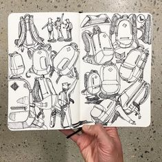 These guys @creativesession  are extremely talented. Design meets art. #sketch #sketchbook #designer #industrialdesign #art #