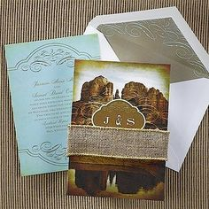Cowboy Country Wedding Invitation