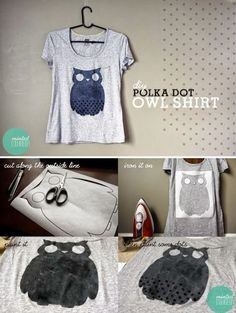 My DIY Projects: How to print an owl in your shirt