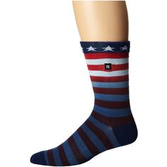 Richer Poorer Patriot Athletic (Navy) Men's Crew Cut Socks ($9.99) ❤ liked on Polyvore featuring men's fashion, men's clothing, men's socks, navy, mens athletic socks, mens seamless socks, mens navy blue crew socks, mens cotton socks and mens cotton crew socks