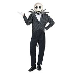 Disney The Nightmare Before Christmas Jack Skellington Costume - Adult, Black