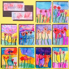 Remembrance Day in Grade We have this great little booklet we put together. The kids learn a bit about the significance of the poppy AND they practice their printing! Grade 1 Art, Grade 2, Remembrance Day Art, Poppy Drawing, Teaching Art, Teaching Ideas, Watercolor Poppies, Peace Art, Kindergarten Art