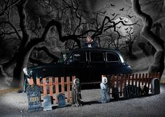 Our new horror themed taxi photo booth for hire