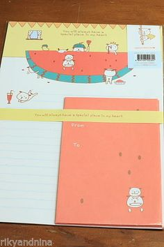 kawaii stationery SPECIAL PLACE in my HEART Letter Set cartoon paper & envelope, £4.50 | eBay