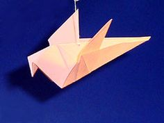 Origami Dove - Instructions are in German, but I like the picture by picture instructions Origami Dove, Origami Paper, Origami Patterns, Craft Patterns, Pentecost, Paper Folding, German, Paper Crafts, Template