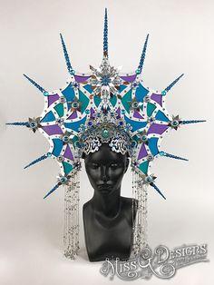 #headdress #headpiece #crown #stainedglass #missgdesigns #icequeen #icequeenheaddress