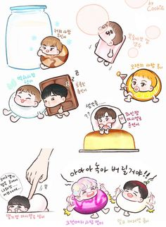 ❣️ Fanart credit from Exo Anime, Anime Chibi, Kawaii Chibi, Cute Chibi, Exo Fanart, Sekai Exo, Exo Cartoon, Exo Stickers, Exo Lockscreen