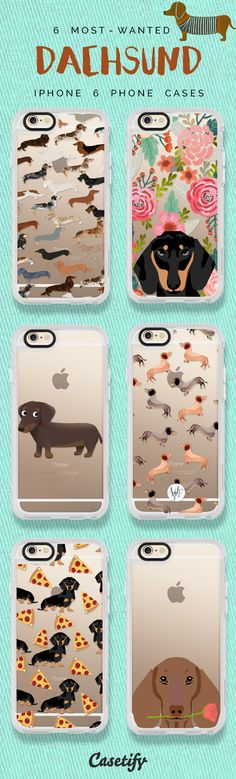Most favorite Daschund iPhone 6 protective phone case designs | Click through to see more iPhone phone case idea. For dog lovers! >>> https://www.casetify.com/search?keyword=dacshund | @Casetify