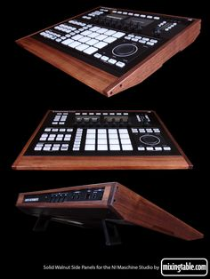 Walnut Panel Set for the NI Maschine Studio by Mixingtable.com - Gearslutz.com