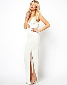 Image 4 ofLove Maxi Dress With Twist Front and Cowl Back
