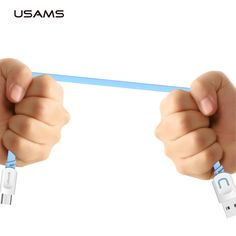 Usams micro usb cable originele datakabel 1 m mobiele telefoon accessoires microusb kabels voor samsung xiaomi mobiele telefoon kabels