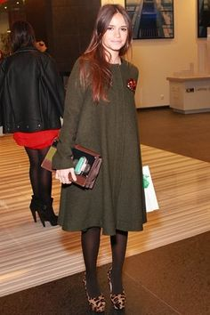 Mira Duma #style #coat #dress