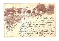 Vorläufer Ansichtskarte Gruss aus Misdroy 1889 mit Jordan-See und Gebäude